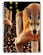 Red Kangaroos Spiral Notebook
