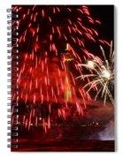 Red Over Niagara Falls Spiral Notebook