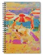 Red Parasols, Miami Spiral Notebook