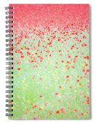 Red Poppies In A Meadow Spiral Notebook