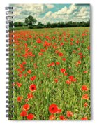 Red Poppies Meadow Spiral Notebook