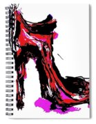 Red Shoe With High Heel Spiral Notebook