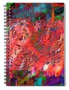 Red Swirls Spiral Notebook