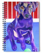 Red, White And Blue Waiting For You Spiral Notebook