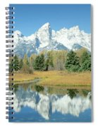 Reflection Of Mountains In Water, Grand Spiral Notebook