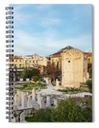 Remains Of The Roman Agora And Tower Of The Winds In Athens Spiral Notebook