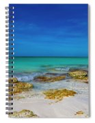 Remote Beach Paradise Turks And Caicos Spiral Notebook