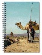 Rest In The Syrian Desert, 19th Century Spiral Notebook