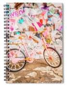 Retro City Cycle Spiral Notebook