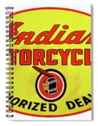 Retro Indian Motorcycles Spiral Notebook