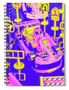 Retro Race Day Spiral Notebook