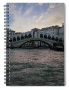 Rialto  Bridge At Sunrise Spiral Notebook
