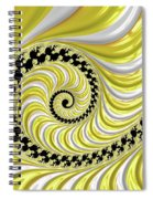 Ribbed Yellow Spiral Spiral Notebook