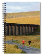 Ribblehead Viaduct In Late Autumn North Yorkshire Spiral Notebook