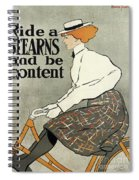 Ride A Stearns And Be Content, Circa 1896 Spiral Notebook