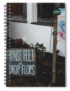 Rinse Feet And Drop Flops Spiral Notebook