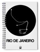 Rio De Janeiro Black Subway Map Spiral Notebook