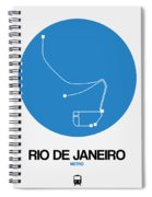 Rio De Janeiro Blue Subway Map Spiral Notebook