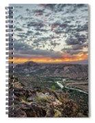Rio Grande River Sunrise 2 - White Rock New Mexico Spiral Notebook
