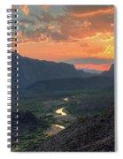 Rio Grande River Sunset Spiral Notebook