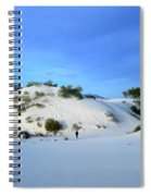 Rippled Sand Dunes In White Sands National Monument, New Mexico - Newm500 00119 Spiral Notebook