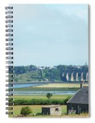 river and bridge towards Berwick upon Tweed scotland Spiral Notebook