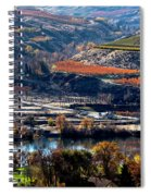 River, Canyon And Slopes Spiral Notebook