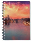 River Thames At Molesey Spiral Notebook