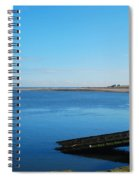 River Tweed Estuaryto Spittal, Pier With Lighthouse And Chimney Spiral Notebook