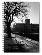 riverside walk in Haddington on winters morning Spiral Notebook
