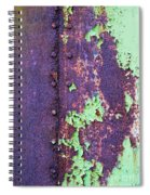 Rivets Rust And Paint Spiral Notebook