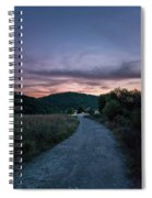 Road To Sunset Spiral Notebook