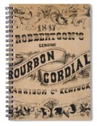 Robbertson's Kentucky Bourbon Cordial Ad C. 1857 Spiral Notebook
