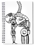Robot Charging Spiral Notebook