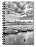 Rolling Into Nyc Black And White Spiral Notebook