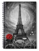 Romance At The Eiffel Tower Spiral Notebook
