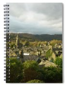 Rooftops Of Ambleside In Early Morning In The Lake District Spiral Notebook
