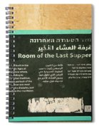 Room Of The Last Supper Spiral Notebook