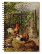 Rooster With Hens And Chicks Spiral Notebook
