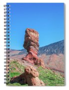 Roque Cinchado In Front Of Mount Teide Spiral Notebook
