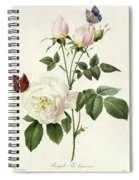 Rosa Bengale The Hymenes By Redoute Spiral Notebook