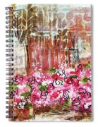 Rose Bundle With Copper Pot Spiral Notebook