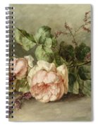 Roses, 19th Century Spiral Notebook
