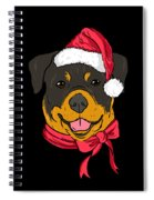 Rotweiler Xmas Hat Dog Pet Lover Christmas Spiral Notebook