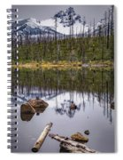 Round Lake Reflection Spiral Notebook