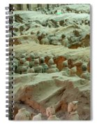 Rows Of Terra Cotta Warriors In Pit 1 Spiral Notebook