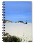 Rrippled Sand Dunes In White Sands National Monument, New Mexico - Newm500 00111 Spiral Notebook