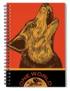Rubino Wolf Dog Love One World Spiral Notebook