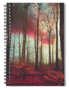 Ruby Red Evening Spiral Notebook