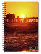 Ruby Sunset Oceanside Pier Spiral Notebook